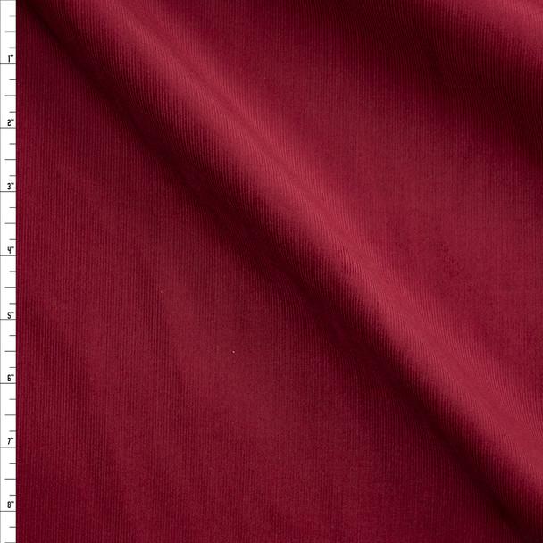 Burgundy Baby Wale Corduroy Fabric By The Yard