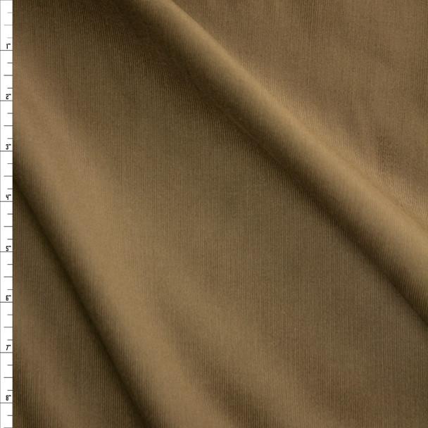 Olive Khaki Baby Wale Corduroy Fabric By The Yard