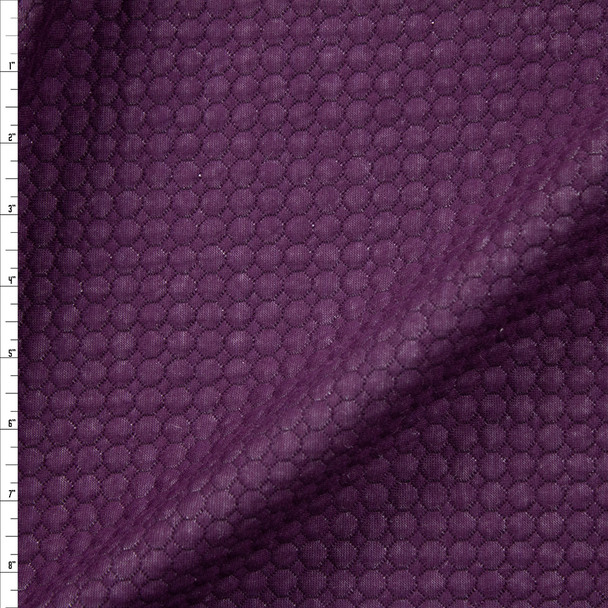 Plum Circles Quilted Cotton Gauze Fabric By The Yard