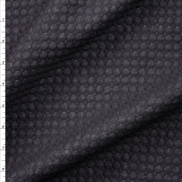Black Quilted Circles Quilted Cotton Gauze Fabric By The Yard