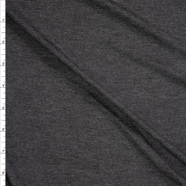 Charcoal Midweight Stretch Rayon Jersey Fabric By The Yard