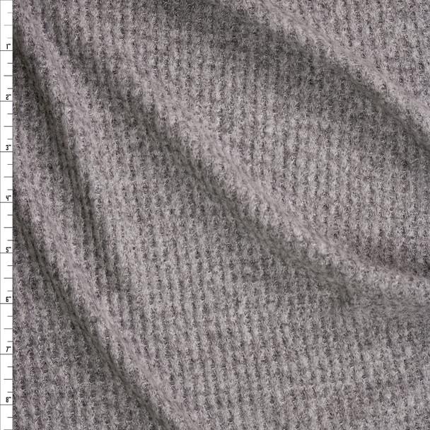 Medium Grey Heather Brushed Soft Waffle Fabric By The Yard