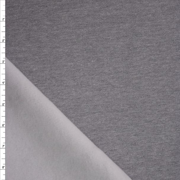 Light Grey Soft Heavyweight Sweatshirt Fleece Fabric By The Yard
