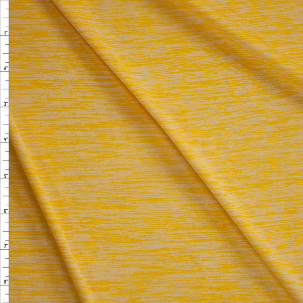 Butter Space Dye Moisture Wicking Designer Athletic Knit Fabric By The Yard