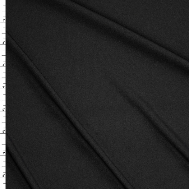 Black Moisture Wicking Designer Athletic Knit Fabric By The Yard
