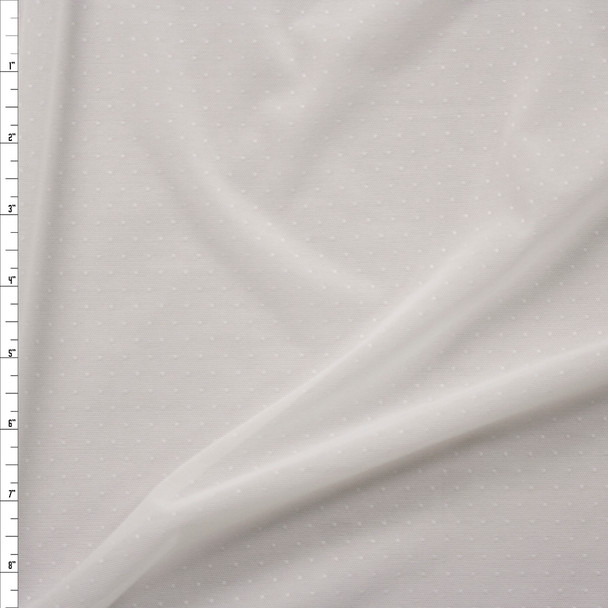 Offwhite Pin Dot Power Mesh Fabric By The Yard
