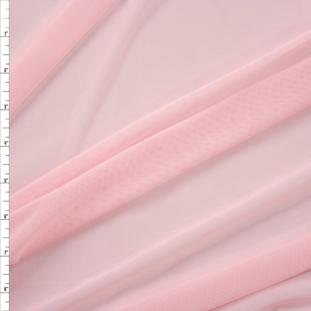 Light Pink Designer Power Mesh Fabric By The Yard