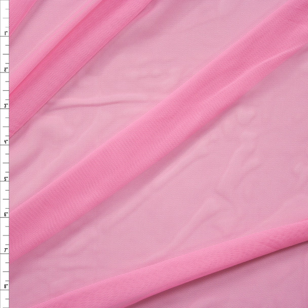 Candy Pink Designer Power Mesh Fabric By The Yard