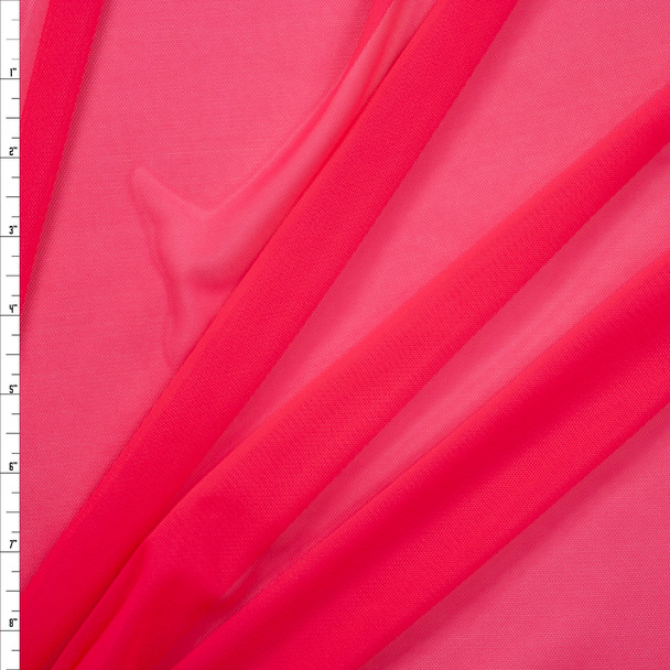 Hot Pink Designer Power Mesh Fabric By The Yard