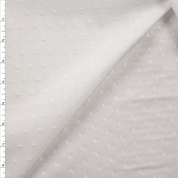 White Swiss Dot Cotton Lawn Fabric By The Yard