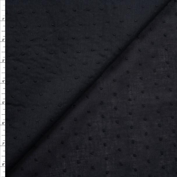 Black Swiss Dot Cotton Lawn Fabric By The Yard