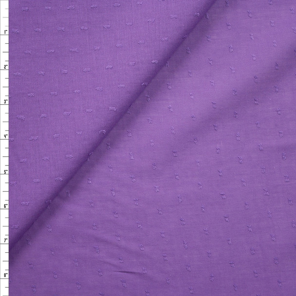 Lavender Swiss Dot Cotton Lawn Fabric By The Yard