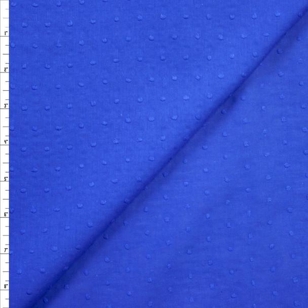 Royal Blue Swiss Dot Cotton Lawn Fabric By The Yard