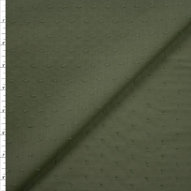 Sage Swiss Dot Cotton Lawn Fabric By The Yard