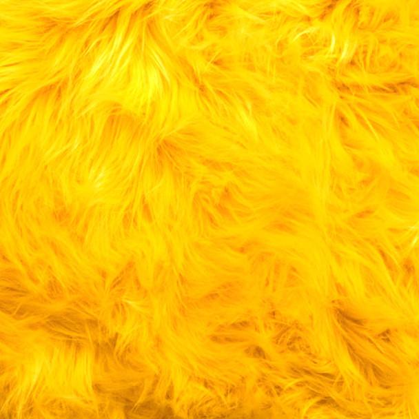 Yellow Shag Faux Fur