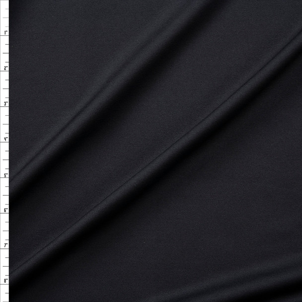 Black Midweight Stretch Moisture Wicking Designer Athletic Knit Fabric By The Yard