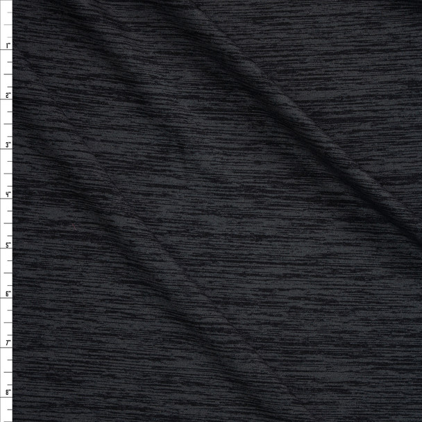 Graphite Spaca Dye Moisture Wicking Designer Athletic Knit Fabric By The Yard