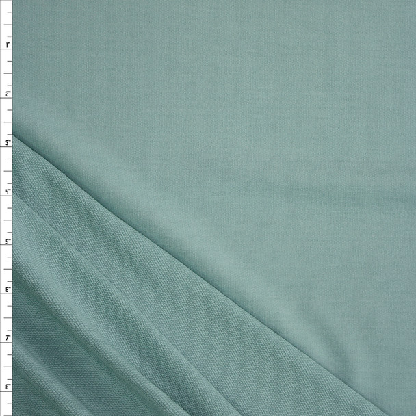 Soft Sage Green Solid Poly/Rayon French Terry Fabric By The Yard