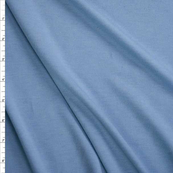 Light Blue Soft Designer French Terry Fabric By The Yard