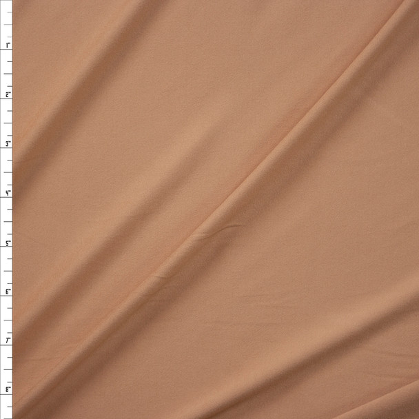 Beige Double Brushed Poly/Spandex Fabric By The Yard