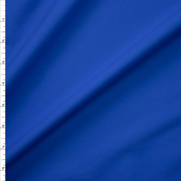 Bright Blue Designer Stretch Midweight Poplin Fabric By The Yard