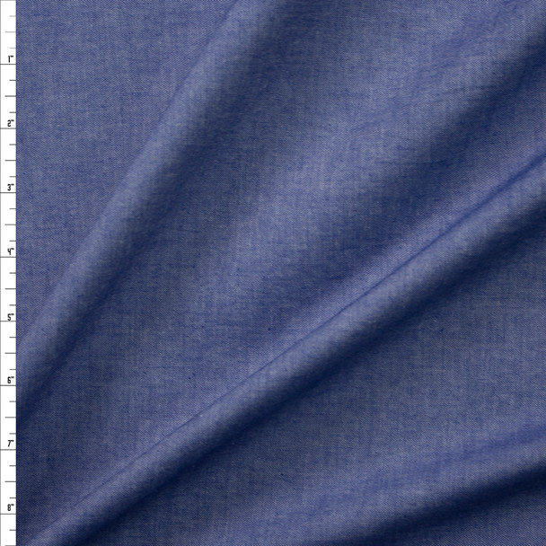 Denim Blue Light Midweight Cotton Chambray  Fabric By The Yard