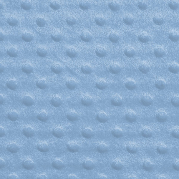 Sky Blue Minky Dot Faux Fur Fabric