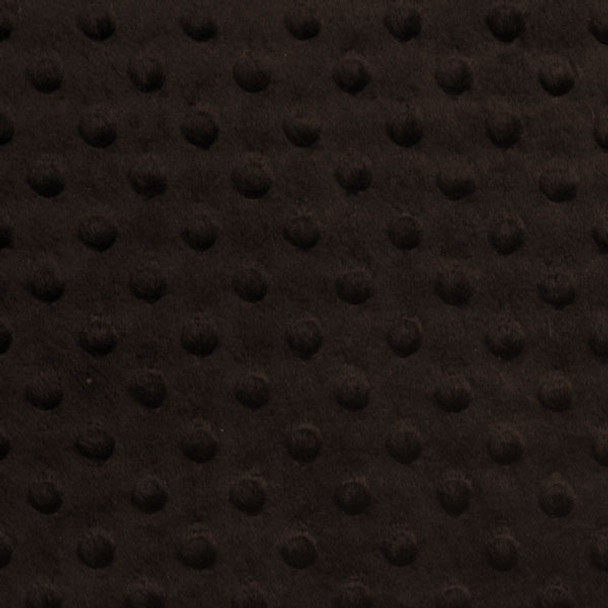 Chocolate Brown Minky Dot Faux Fur Fabric