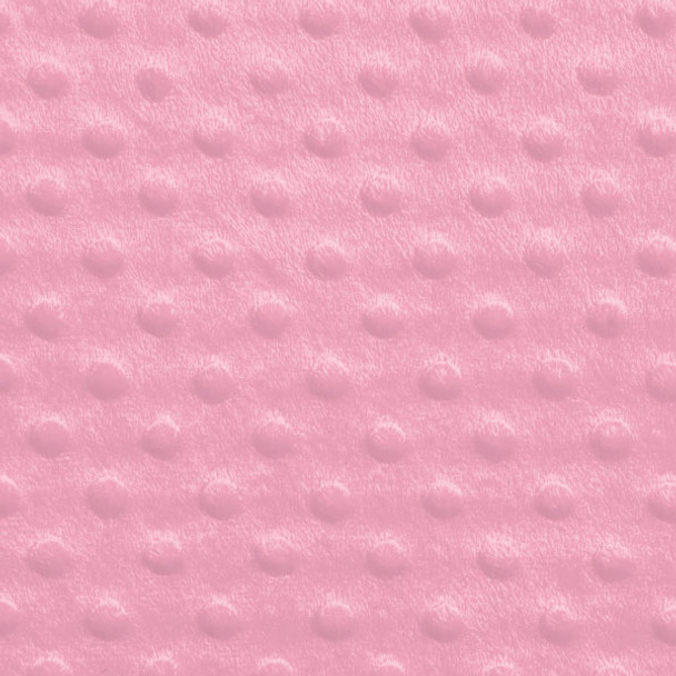 Pink Minky Dot Faux Fur Fabric