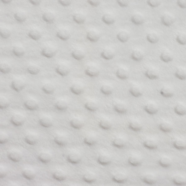 White Minky Dot Faux Fur Fabric