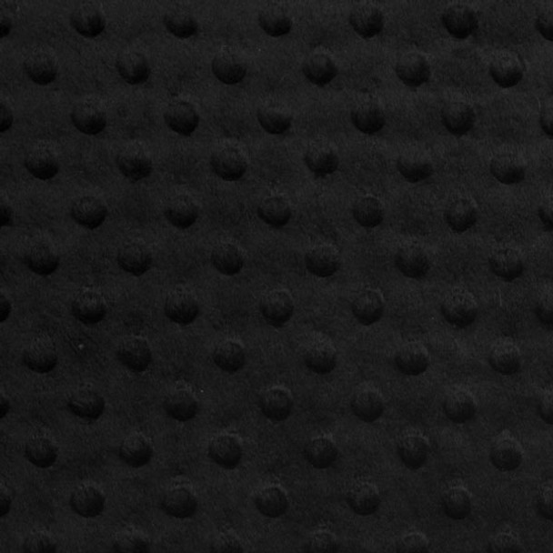Black Minky Dot Faux Fur Fabric