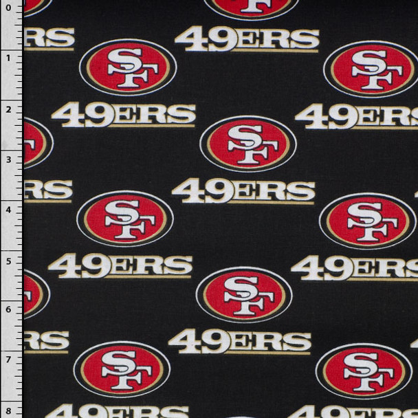 "58"" San Francisco 49ers 100% Cotton Broadcloth"