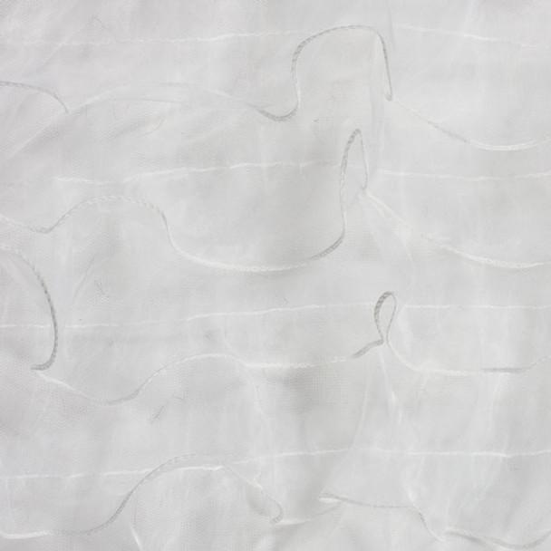 "White 3"" Organza Ruffle Fabric"