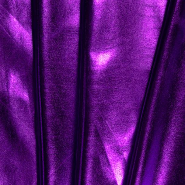 Purple Lycra Lame Fabric