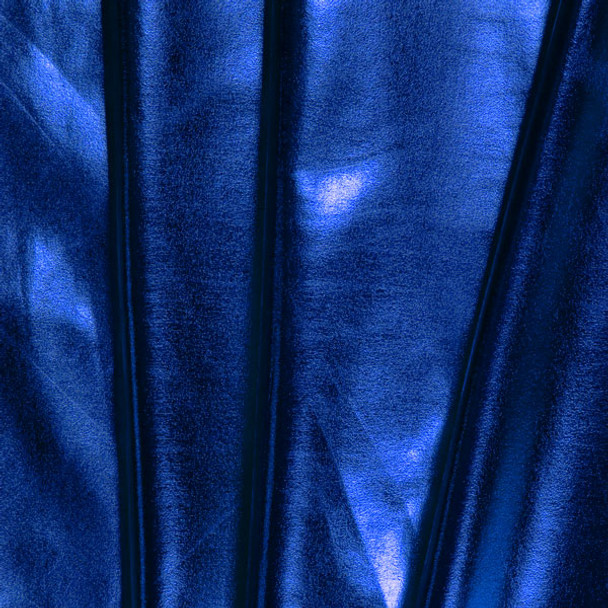 Royal Blue Lycra Lame Fabric