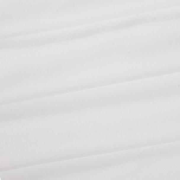 White Polyester Poplin Fabric
