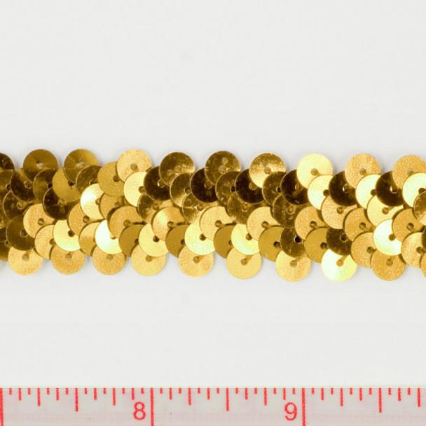 """Gold .75"""" Sequin Trims"""