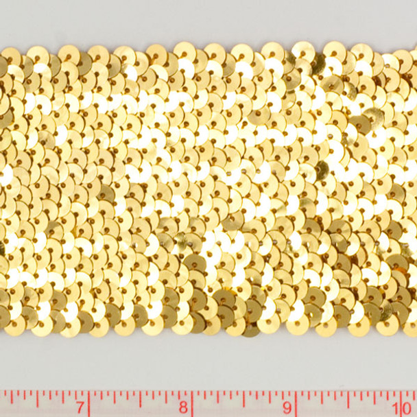 "Gold 3"" Sequin Trim"