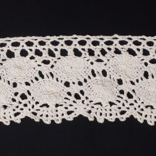 "Ivory  4"" Cotton Crochet Lace"