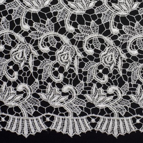 Ivory Designer Fashion Lace Fabric