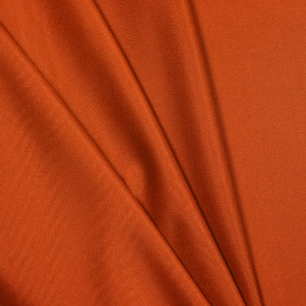 Orange Polyester Interlock Fabric