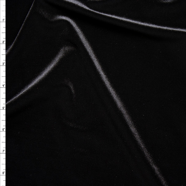 Black 4-way Stretch Velvet By The Yard
