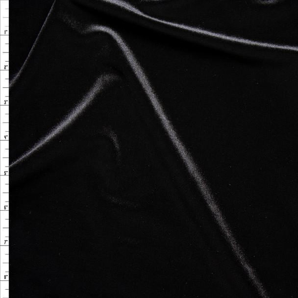 Black 4-way Stretch Velvet By The Yard