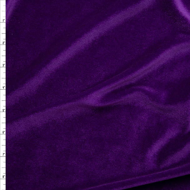 Purple 4-way Stretch Velvet By The Yard