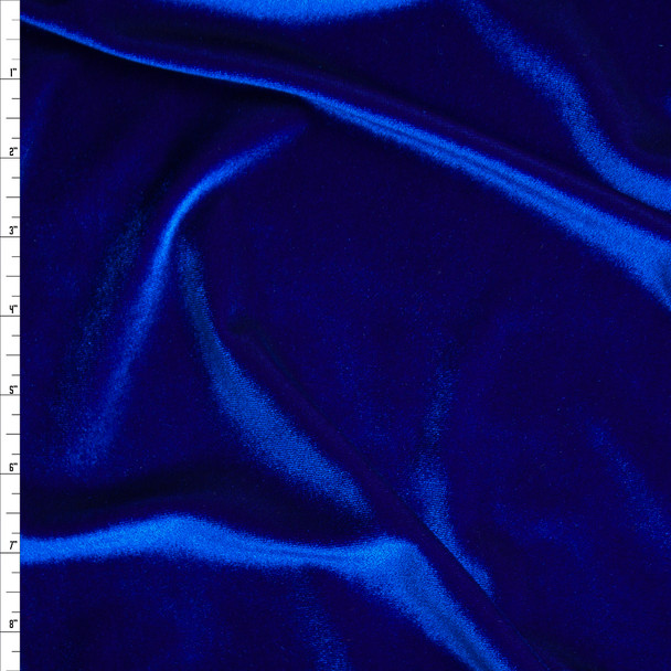 Royal Blue 4-way Stretch Velvet By The Yard