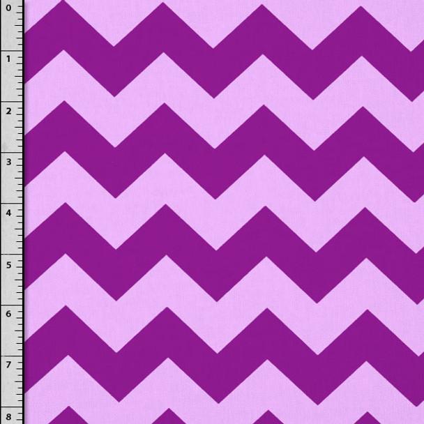 Purple on Lilac Chevron Cotton Print by David Textiles