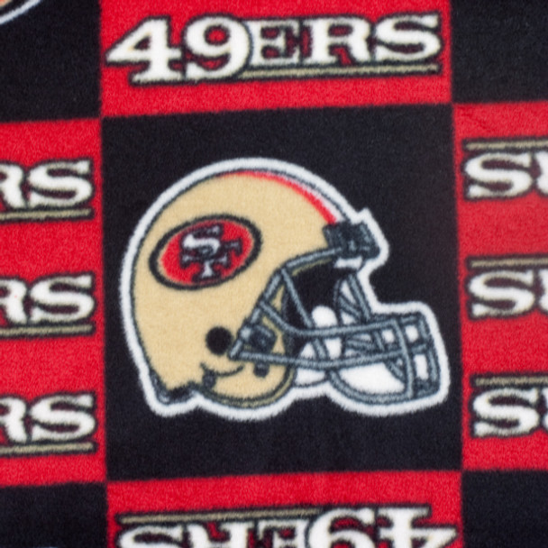 San Francisco 49ers Checkered NFL Fleece Print
