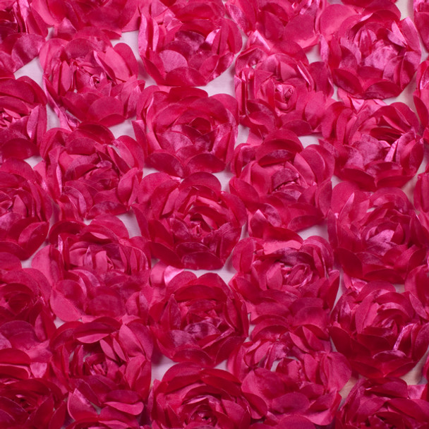 Large Hot Pink Rosette Fabric