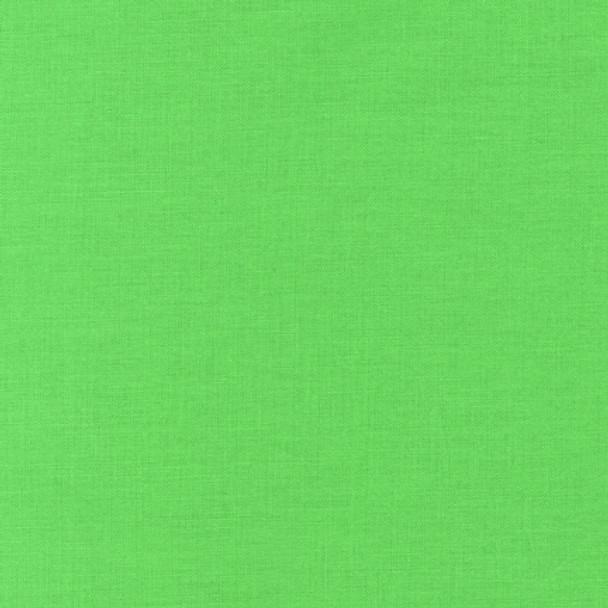 """Sour Apple"" Kona Cotton Solid Fabric by Robert Kaufman"