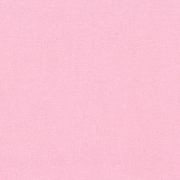Baby Pink Kona Cotton Solid Fabric by Robert Kaufman